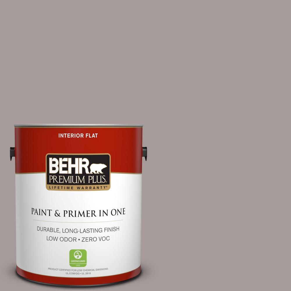 1 gal. #PPU17-12 Smoked Mauve Zero VOC Flat Interior Paint
