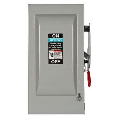 General Duty 60 Amp 240-Volt 2-Pole Indoor Fusible Safety Switch with Neutral