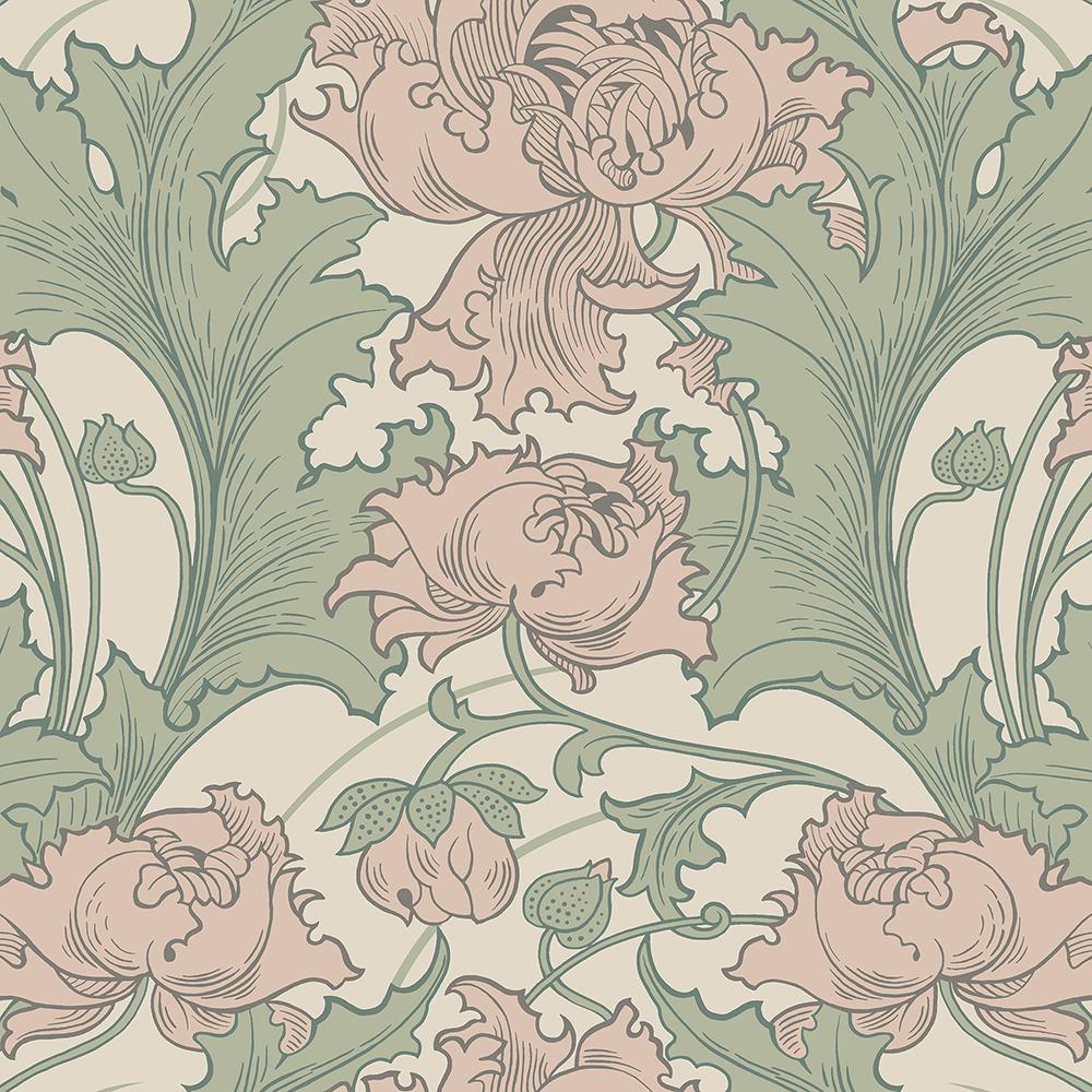 Wall Vision 57 8 Sq Ft Siri Rose Floral Wallpaper 2827 4539