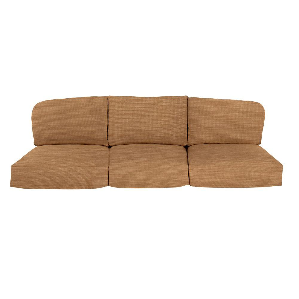 brown jordan northshore replacement outdoor sofa cushion in toffee m6061 sc4 the home depot. Black Bedroom Furniture Sets. Home Design Ideas