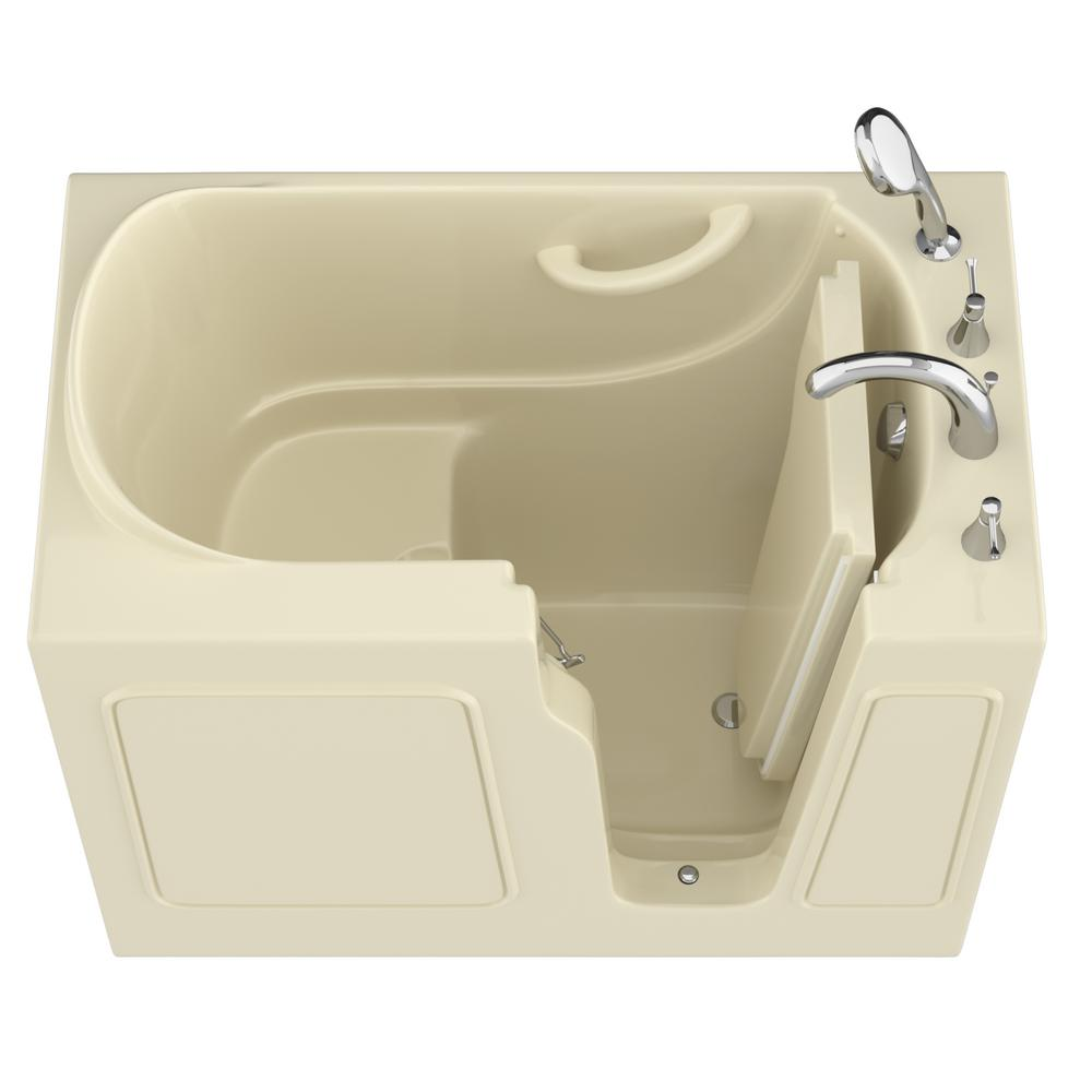 Universal Tubs HD Series 26 in. x 46 in. Right Drain Quick Fill Walk-In Soaking Bathtub in Biscuit