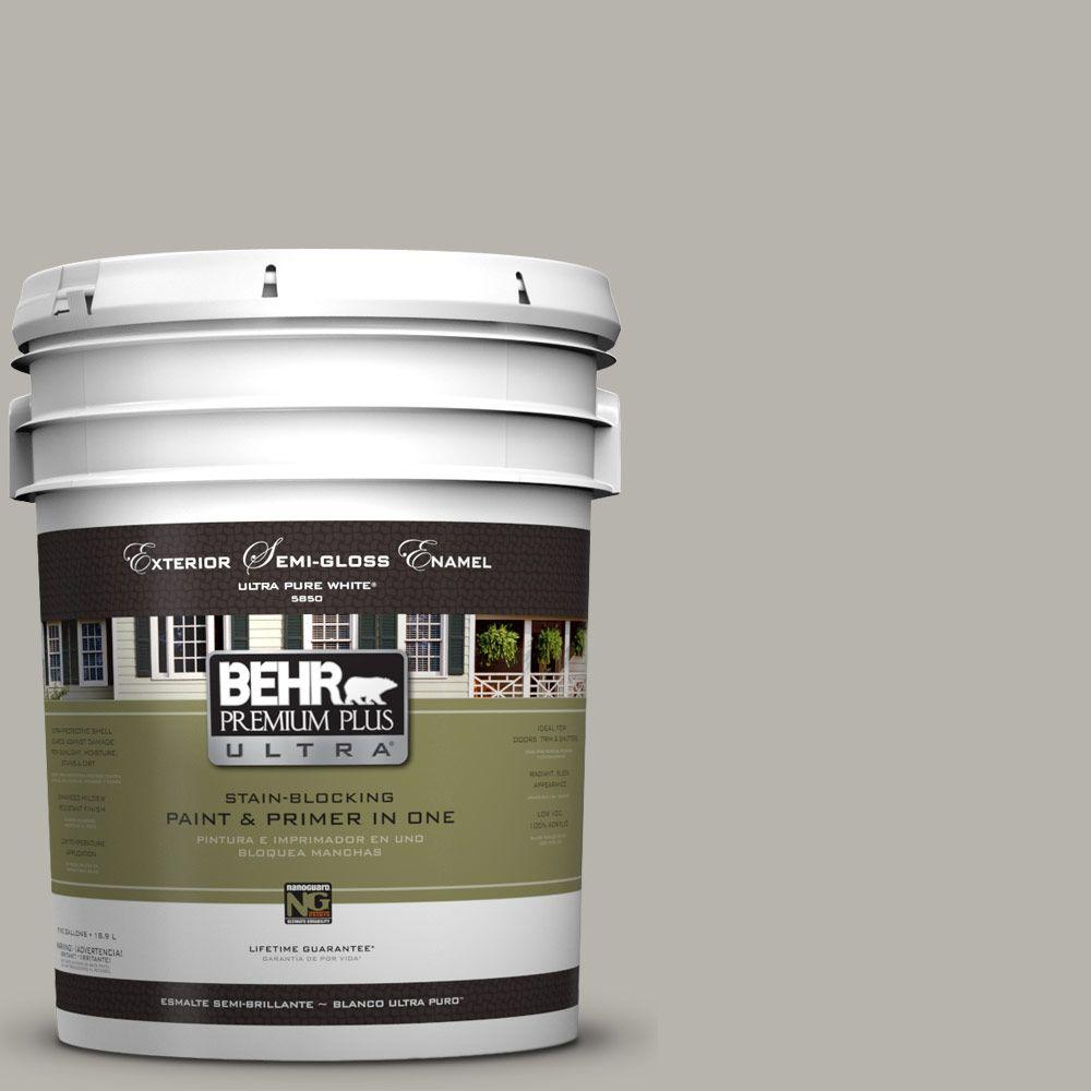 BEHR Premium Plus Ultra 5 Gal. #UL260-9 Ashes Semi-Gloss