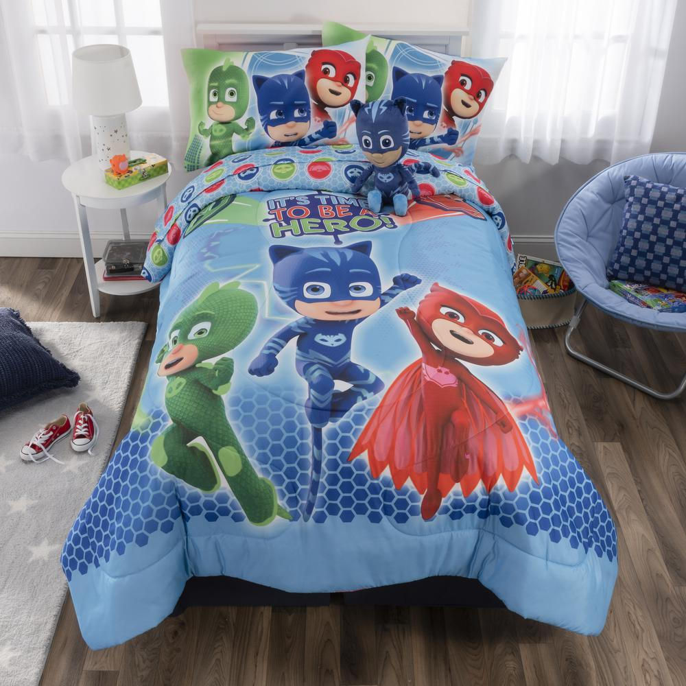 Pjmasks 6 Piece On Our Way Full Size Bed In A Bag With