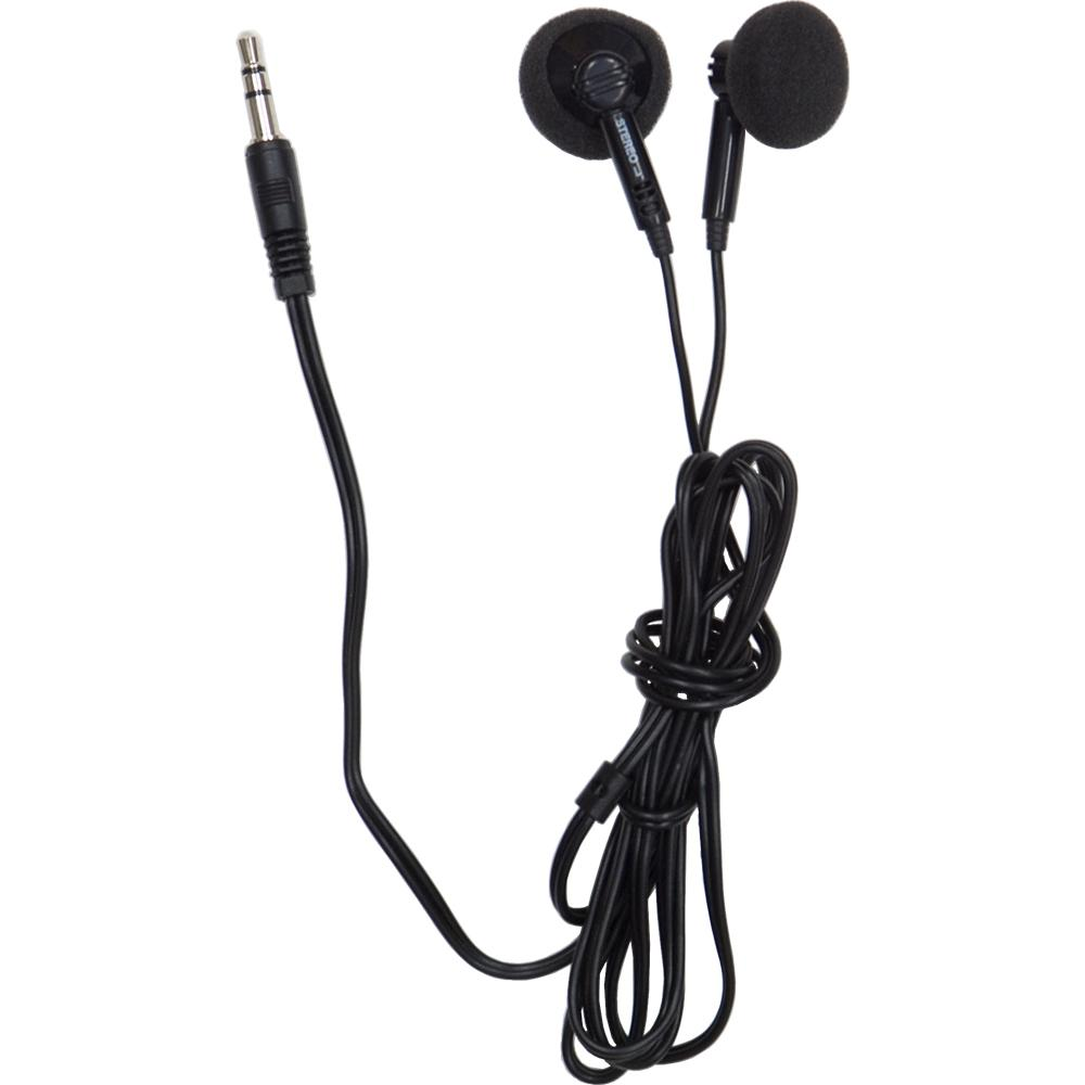 GE Earbuds Ultra Lightweight - Black Use the GE Earbud Ultra Lightweight Earphones with your personal computer, portable audio player or telephone for private listening. These earphones ensure quality sound with 13-1/2 mm speaker drivers.This product comes with a 90-day limited warranty.