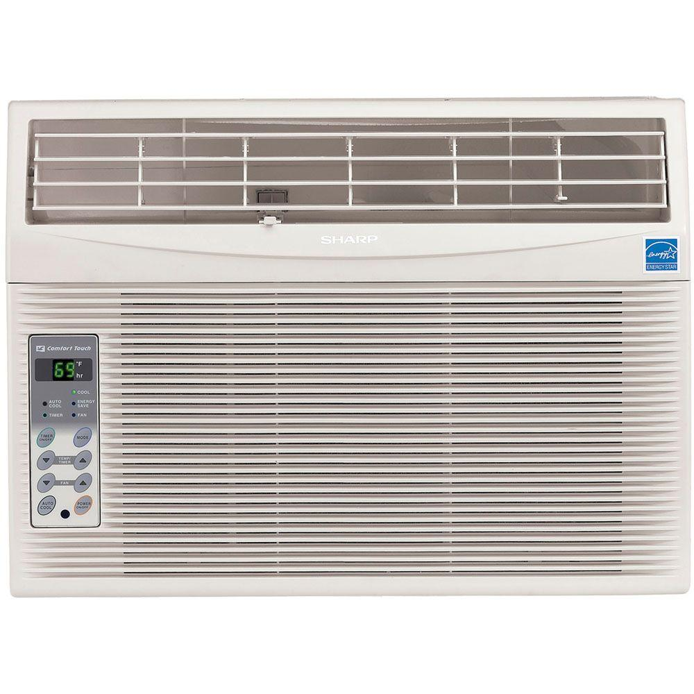 Sharp 10,000 BTU 115-Volt Window-Mounted Air Conditioner with Rest Easy Remote Control