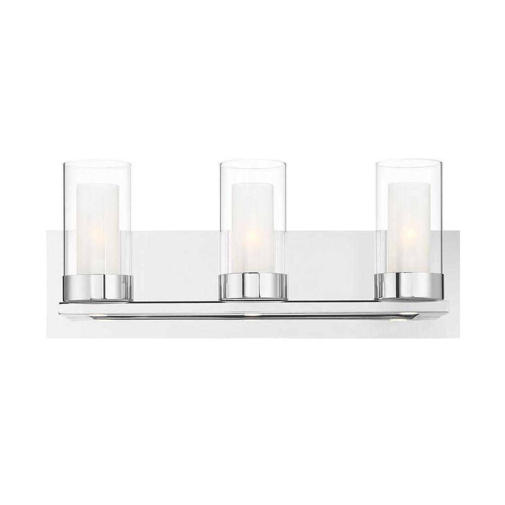 Home Decorators Collection Samantha 19.5 in. 3-Light Chrome LED Bathroom Vanity Light