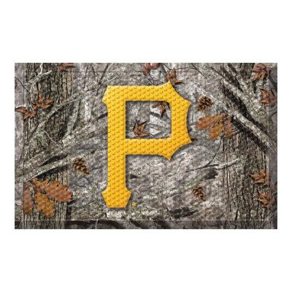 MLB - Pittsburgh Pirates 19 in. x 30 in. Outdoor Camo Scraper Mat Door Mat