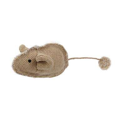 Brown Pompom Kitty Mouse Plush Catnip Cat Toy