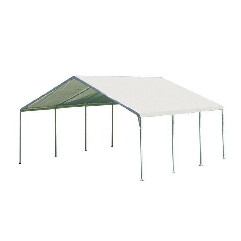 ShelterLogic Super Max 18 ft. x 20 ft. White Premium Canopy  sc 1 st  The Home Depot & ShelterLogic Super Max 18 ft. x 20 ft. White Premium Canopy-26773 ...