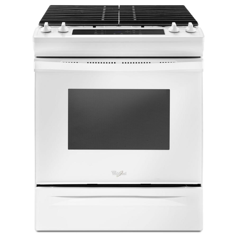 Whirlpool 30 in. 5.0 cu. ft. Slide-In Gas Range in White