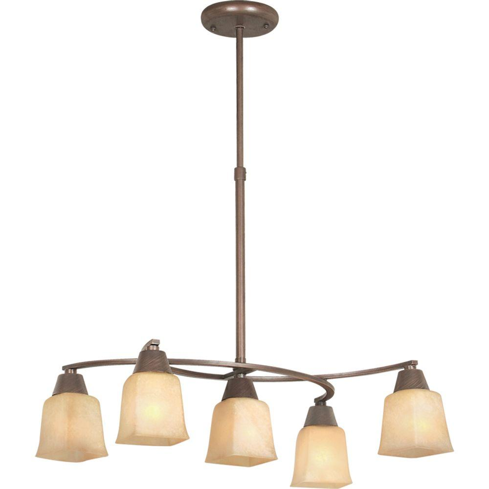 Marcoli Collection 5-Light Coffee Chandelier-DISCONTINUED