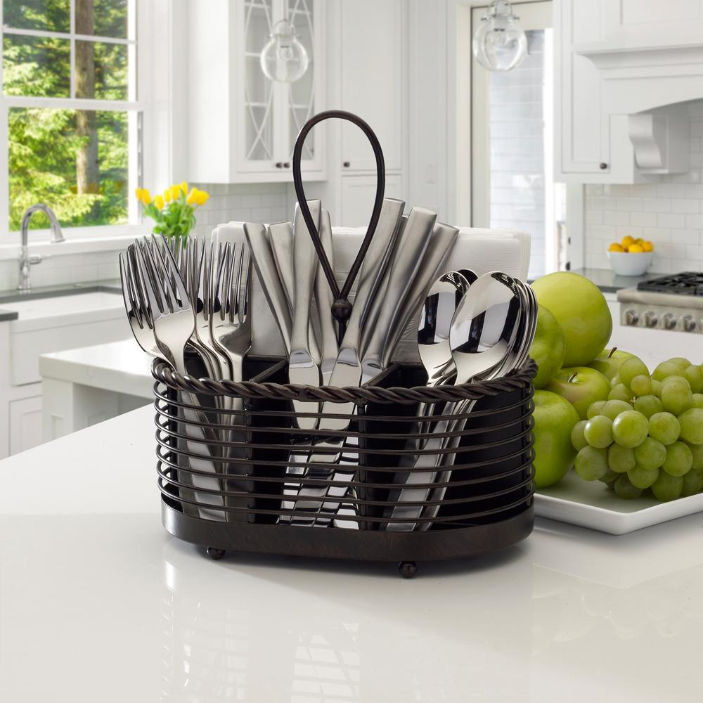 Details About Rope Napkin Flatware Caddy Cutlery Holder Kitchen Dining Tabletop Organizer 10