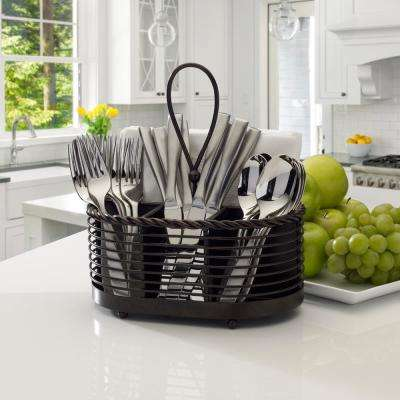 10 in. Rope Napkin Flatware Caddy