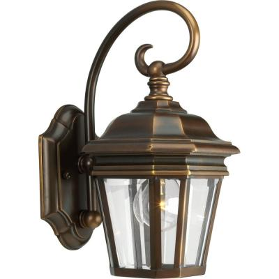 Crawford Collection 1-Light Oil-Rubbed Bronze 12.5 in. Outdoor Wall Lantern Sconce