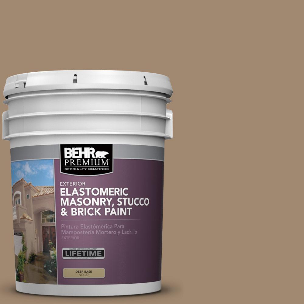 5 gal. #700D-5 Toffee Crunch Elastomeric Masonry, Stucco and Brick Exterior Paint