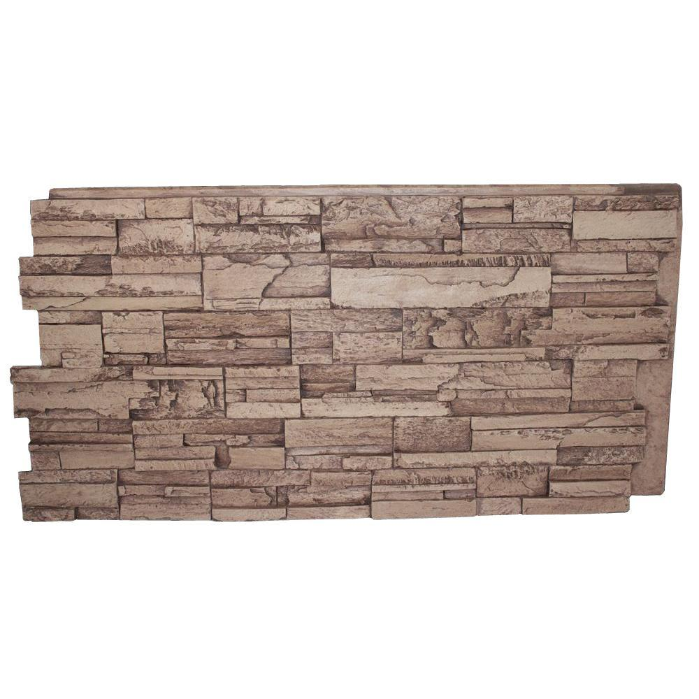 Superior Building Supplies Faux Tennessee 24 in. x 48 in. x 1-1/4 in. Stack Stone Panel Cinnamon