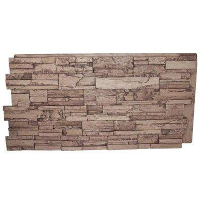 Faux Tennessee 24 in. x 48 in. x 1-1/4 in. Stack Stone Panel Cinnamon