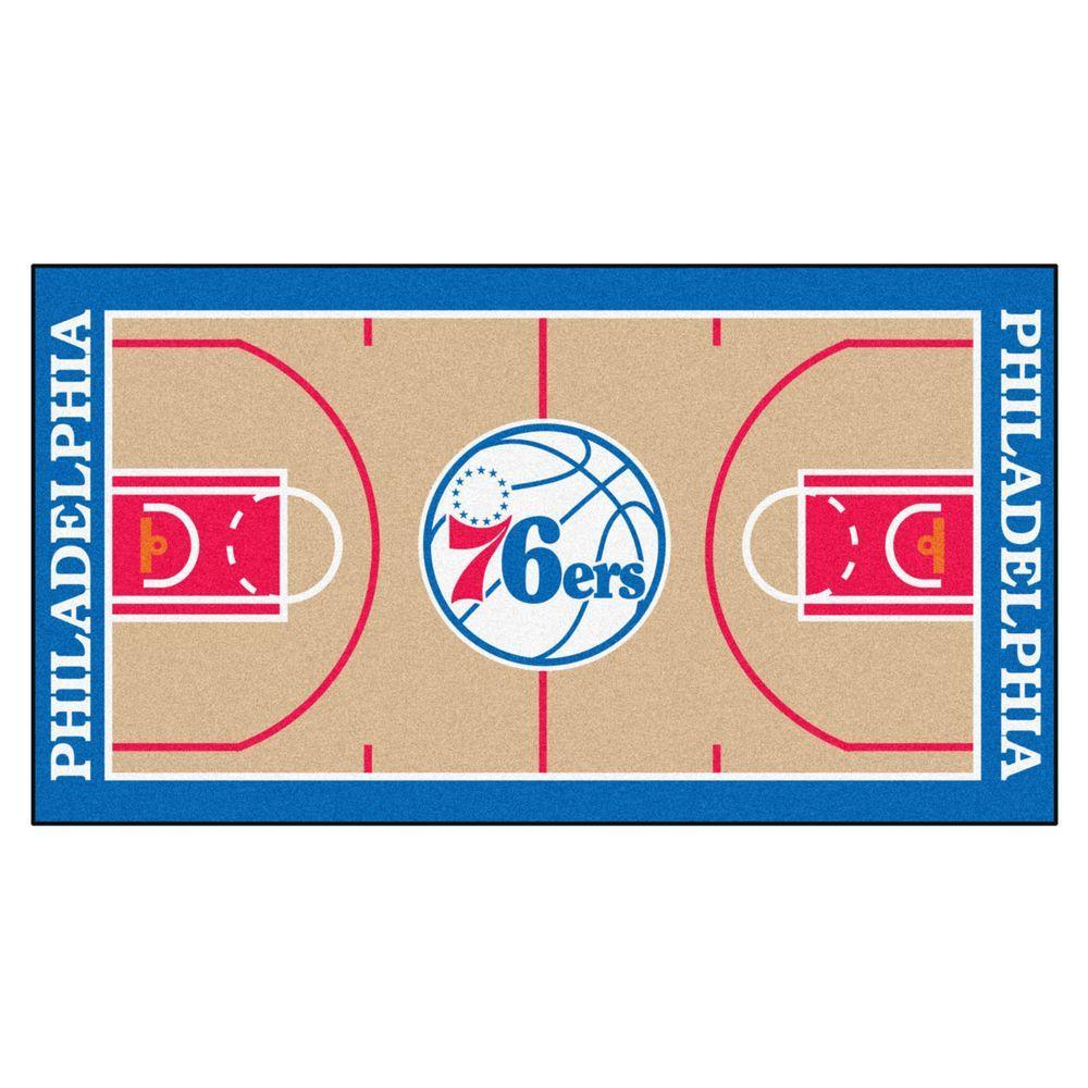 FANMATS NBA Philadelphia 76ers Tan 2 Ft. X 4 Ft. Indoor