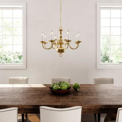 Americana Collection 8-Light Polished Brass Chandelier