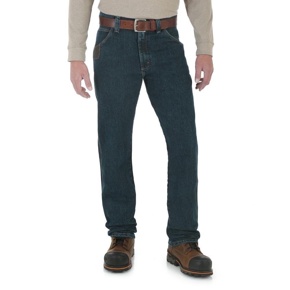 Men's Size 38 in. x 34 in. Dark Tint Advanced Comfort 5 Pocket Jean