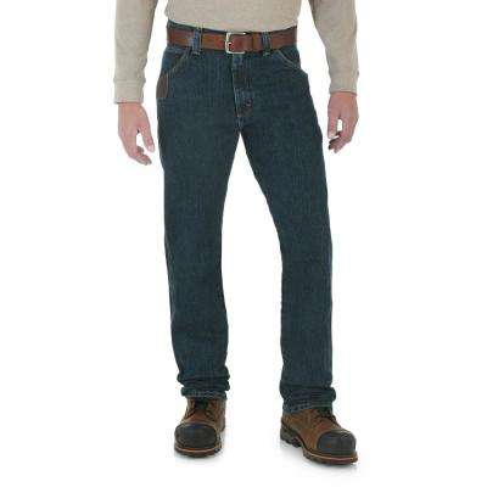 Men's Size 40 in. x 32 in. Dark Tint Advanced Comfort 5 Pocket Jean