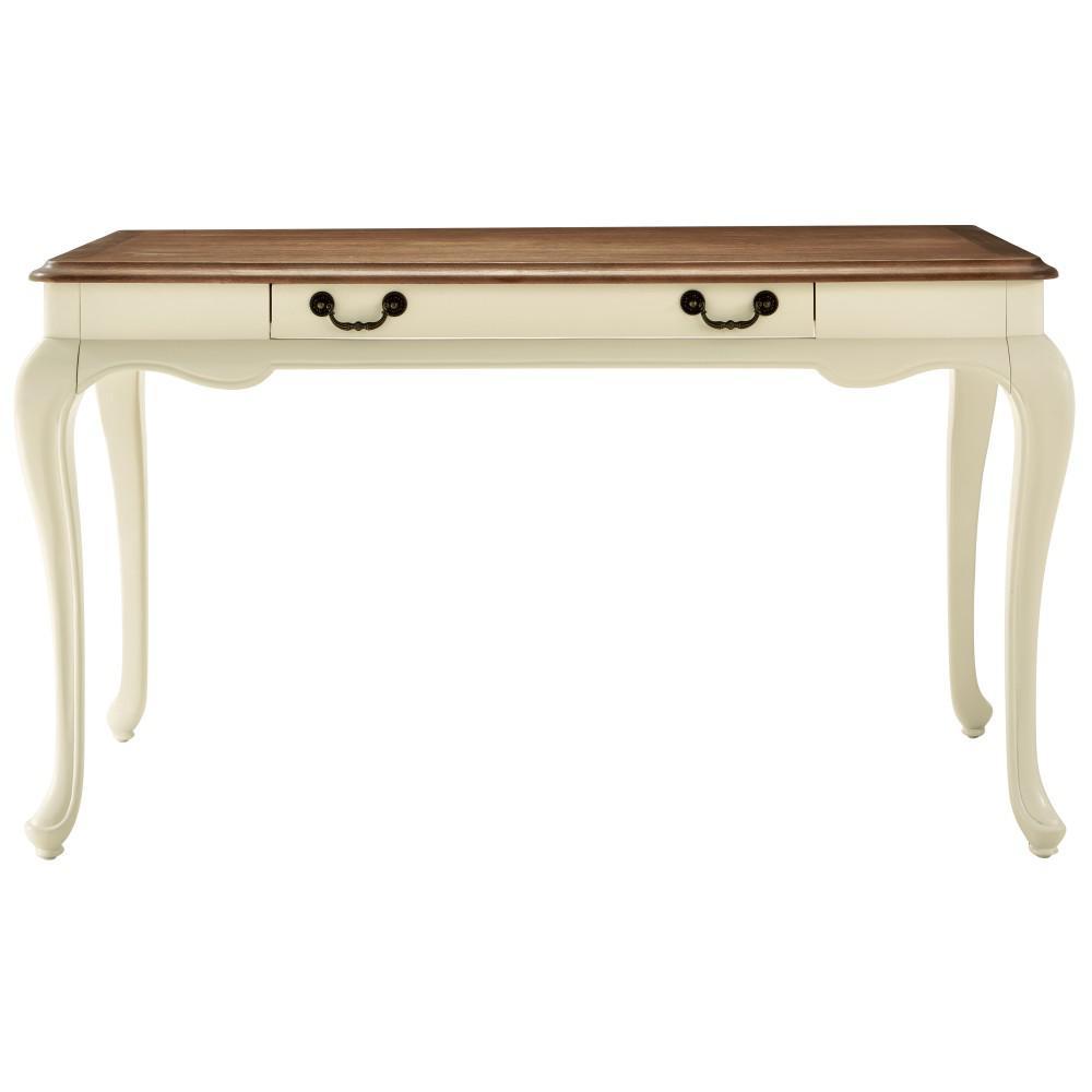54 in. Rectangular Ash Brown 1 Drawer Writing Desk with Keyboard Tray