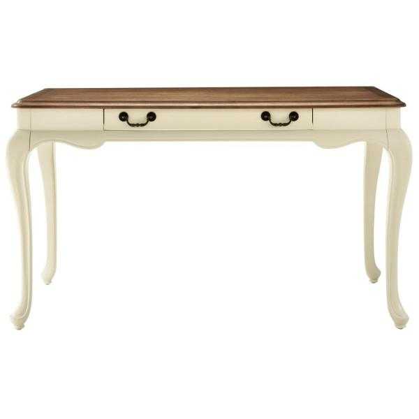 Home Decorators Collection Provence Ivory Writing Desk with Ash Brown Top