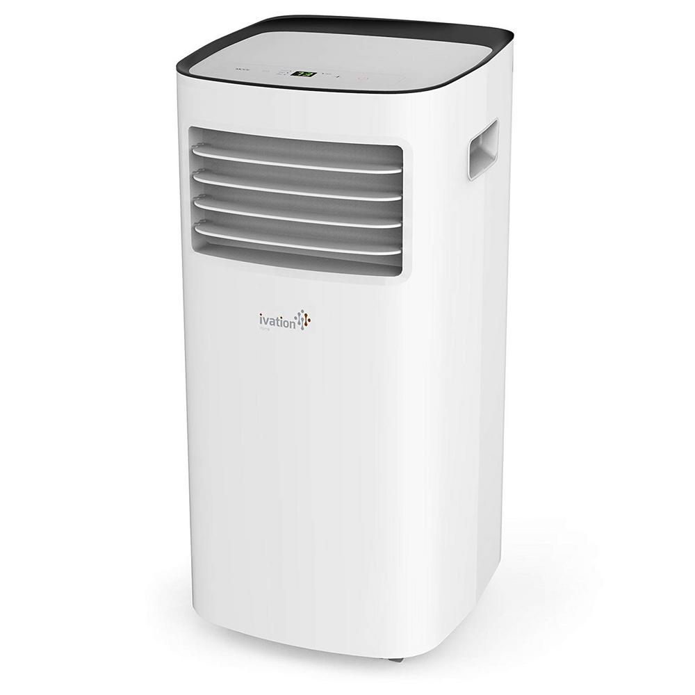 Ivation 10 000 Btu Portable Air Conditioner W Remote Control Digital Display And Multi Mode Function 400 Sq Ft Coverage Ivapac10kbtuwh The Home Depot