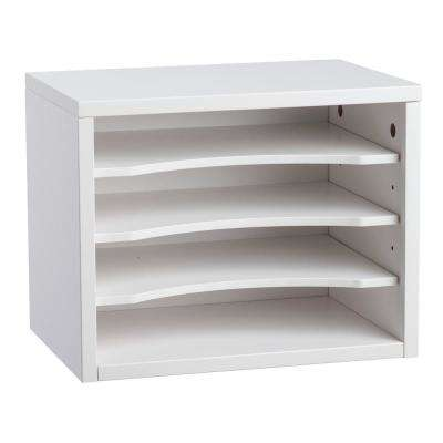 Stackable Desk Organizer with Removable Shelves, White