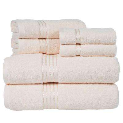 100% Egyptian Cotton Hotel Towel Set in Ivory (6-Piece)
