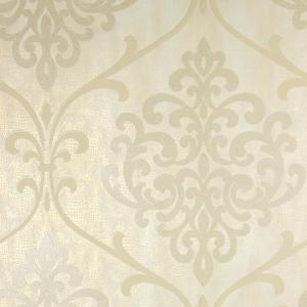 8 in. x 10 in. Ambrosia Champagne Glitter Damask Wallpaper Sample
