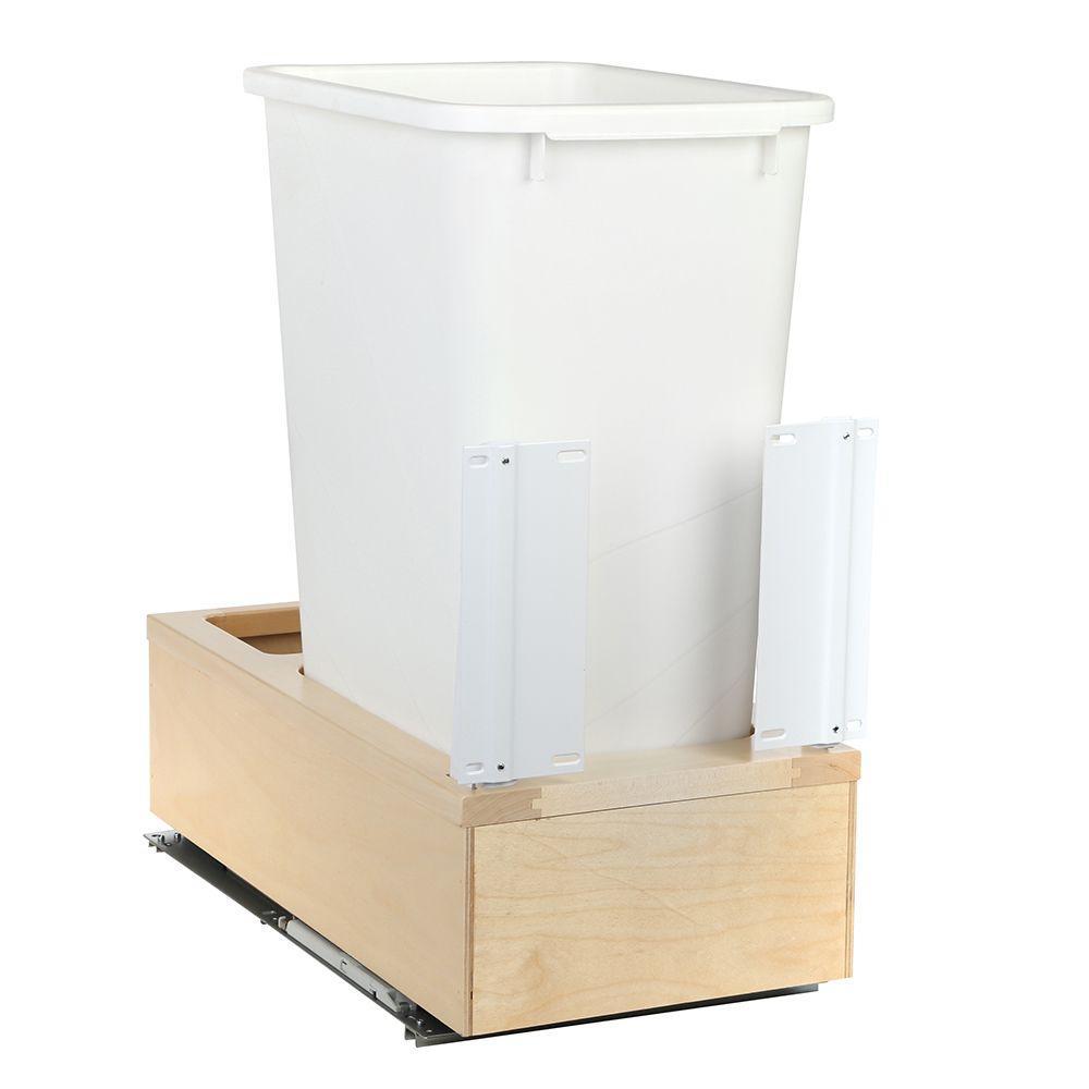 11-1/4 in. x 22-3/8 in. x 23-5/16 in. 50 Qt. Undermount Soft-Close Single Trash Can