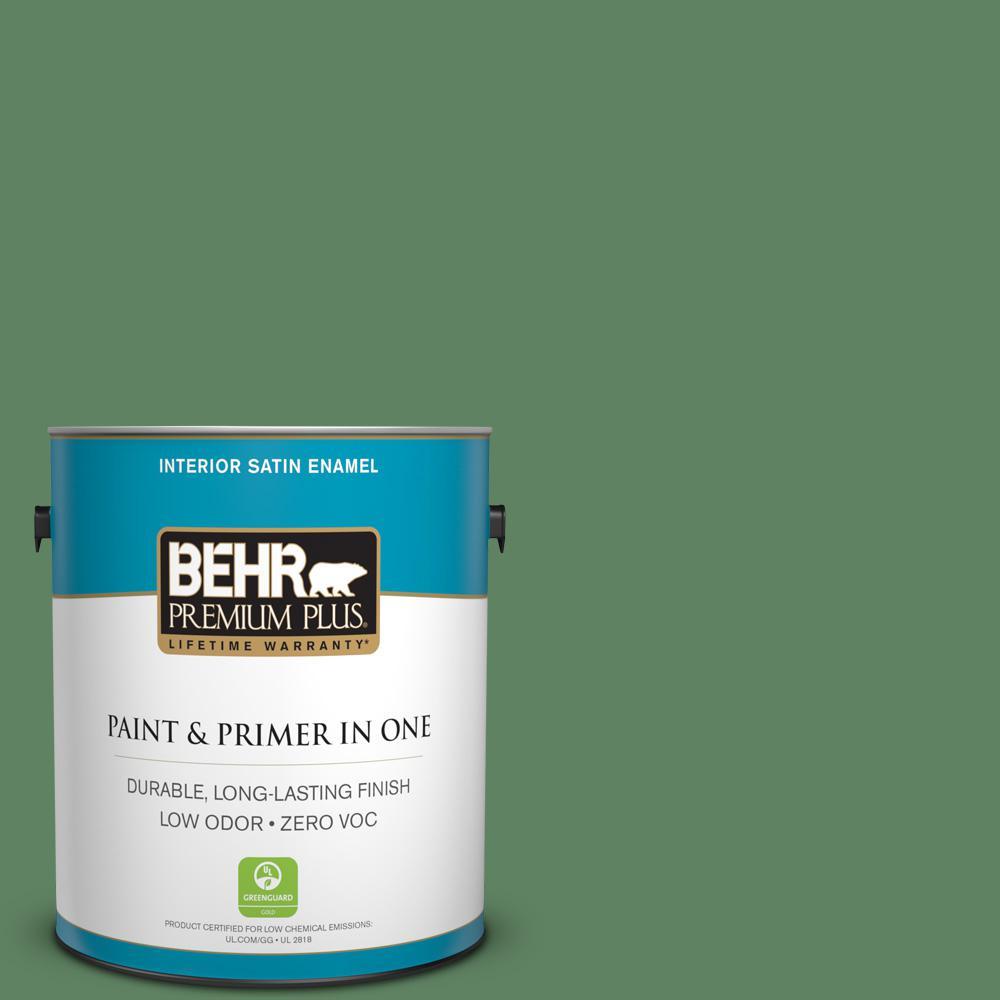 1-gal. #S400-6 Tuscan Herbs Satin Enamel Interior Paint