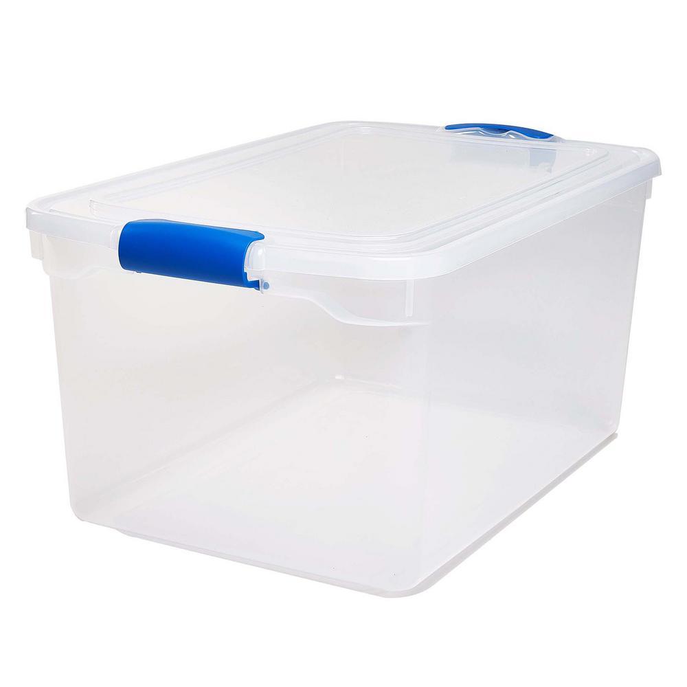 66 Qt Latching Clear Storage Box Set Of 2