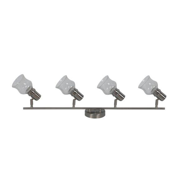 Vieste Collection 2.6 ft. 4-Lights Satin Nickel Track Lighting Kit