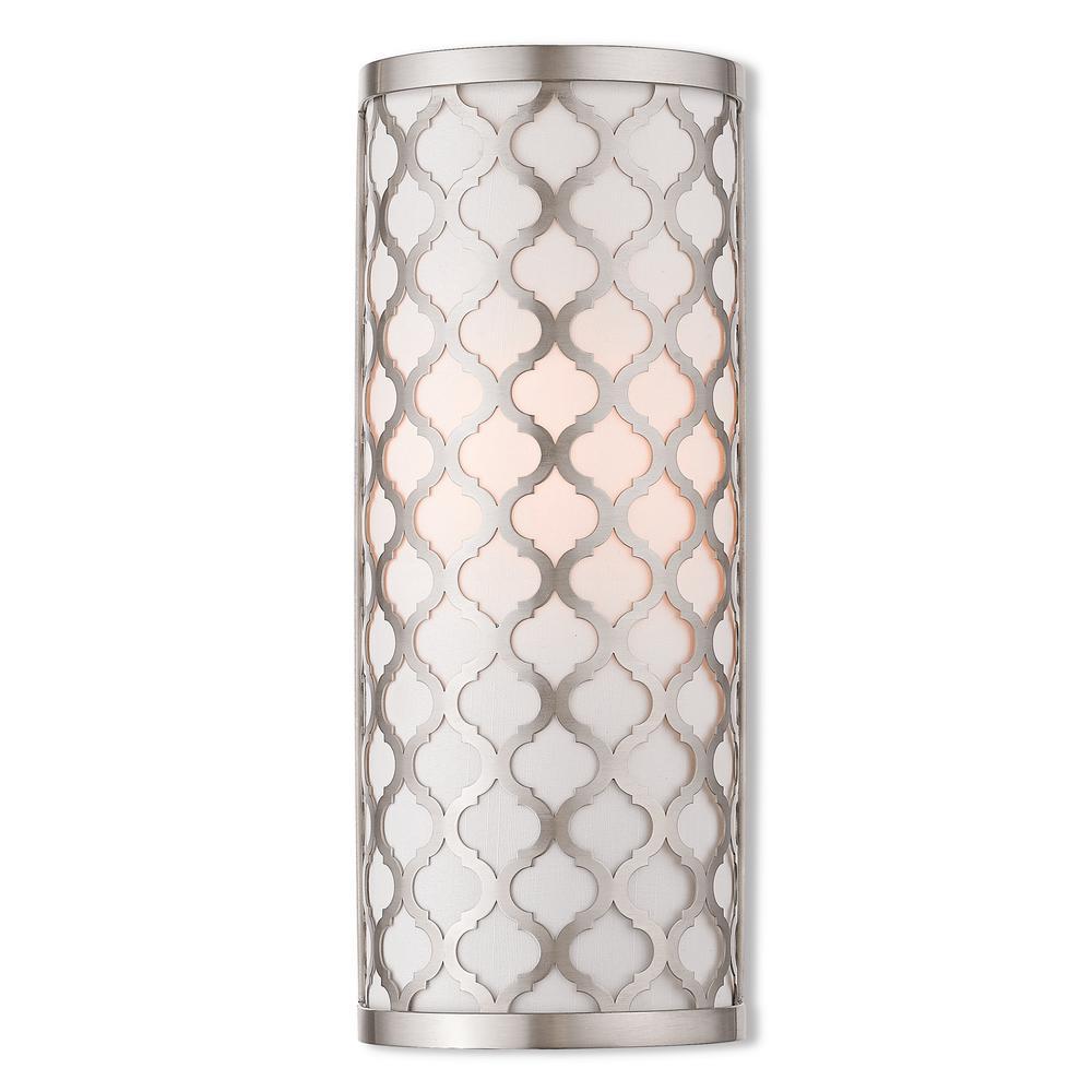 Arabesque 1-Light Brushed Nickel ADA Wall Sconce