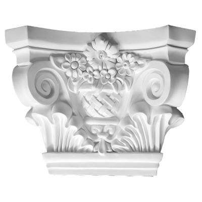7-1/2 in. x 21-5/8 in. x 17 in. Decorative Polyurethane Capital for Pilaster