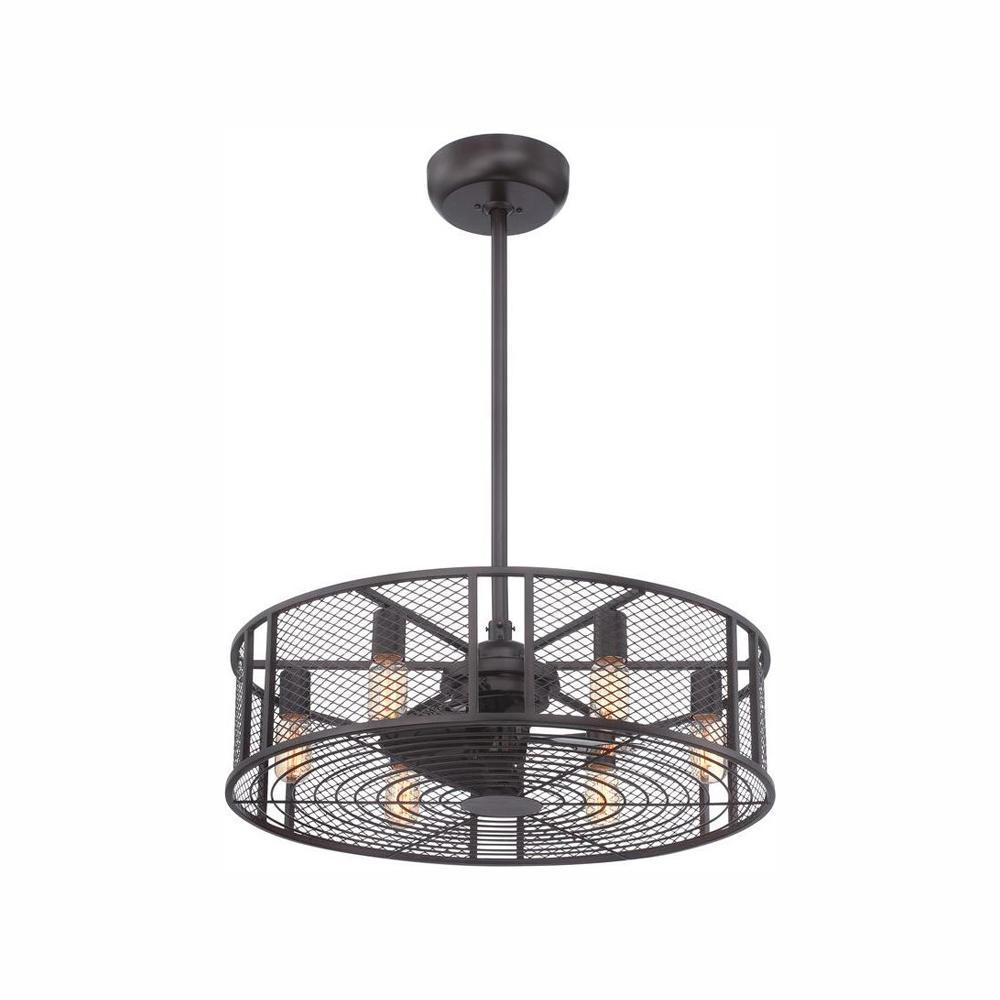 World Imports Boyd Collection 26 in. LED Indoor Oil-Rubbed Bronze Ceiling Fan with Remote Control