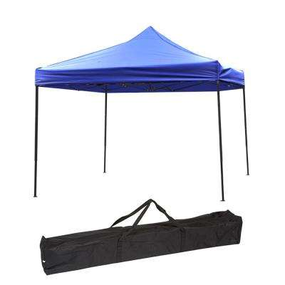 10 ft. x 10 ft. Blue Lightweight and Portable Canopy Tent Set
