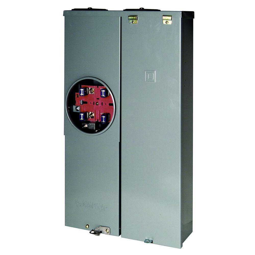 Homeline 125 Amp 8-Space 8-Circuit Outdoor Ring-Type Overhead/Underground Main Lug CSED
