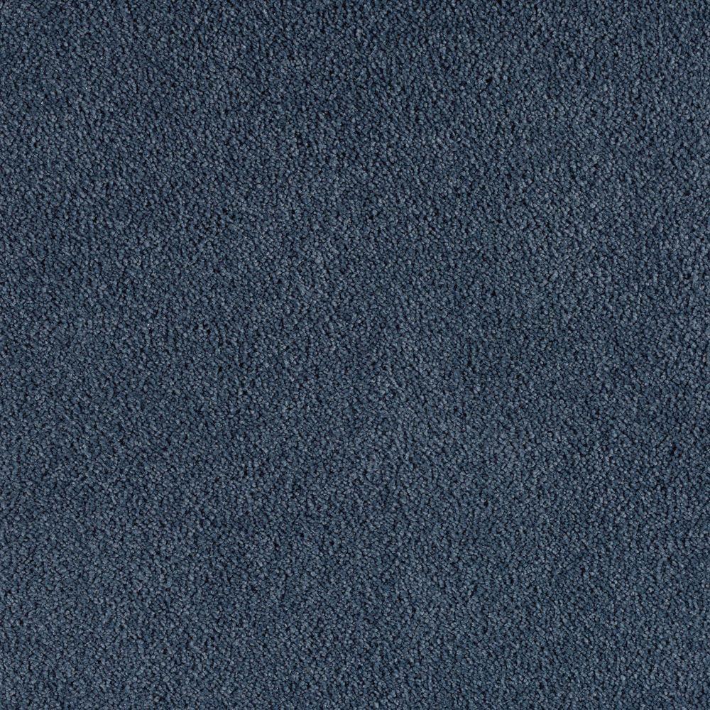 SoftSpring Cashmere I - Color Deep Denim Texture 12 ft. Carpet