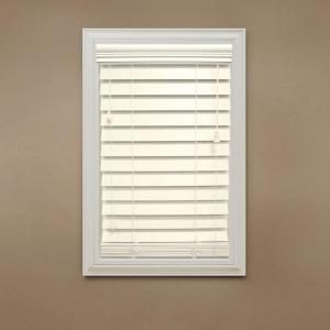 Home Decorators Collection Ivory 2 1 2 In Premium Faux Wood Blind 23 In W X 64 In L Actual