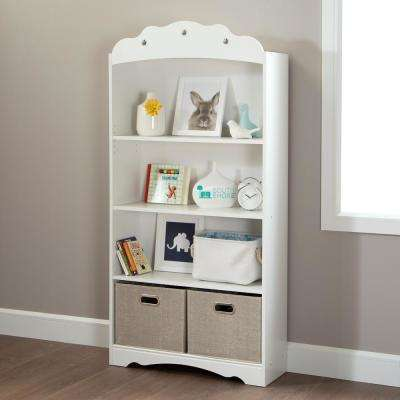 Tiara Pure White Kids Bookcase