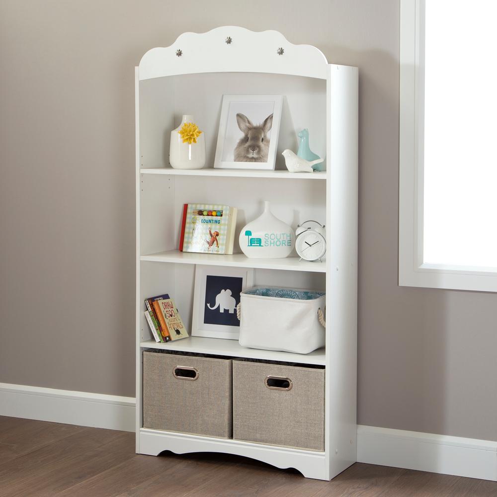 Tiara Pure White Kids Bookcase