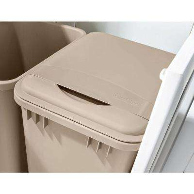 1.75 in. H x 10.7 in. W x 14.75 in. D 50 Qt. Champagne Waste Container Lid