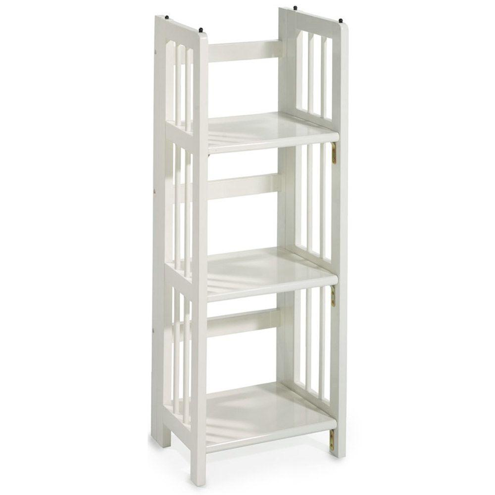 Casual Home White Folding Stacking Open Bookcase 331 31
