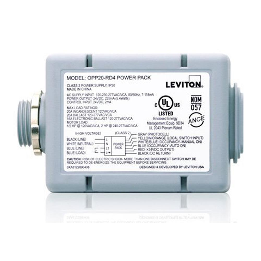 20 Amp Power Pack for Occupancy Sensors: Auto-On, Manual-On, Local Switch,