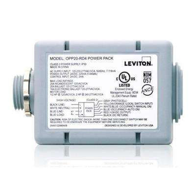 20 Amp Power Pack for Occupancy Sensors: Auto-On, Manual-On, Local Switch, Photocell, Latching Relay, Gray