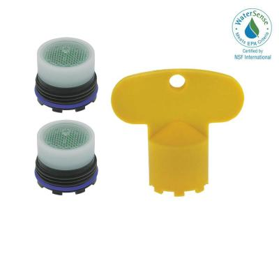 1.5 GPM Tom Thumb Size M16.5 x 1 PCA Cache Water-Saving Aerator with Key (2-Pack)