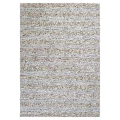 Lineal Texture Ivory 8 ft. x 10 ft. Area Rug